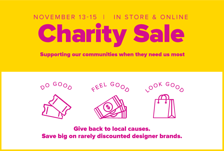charity sale banner